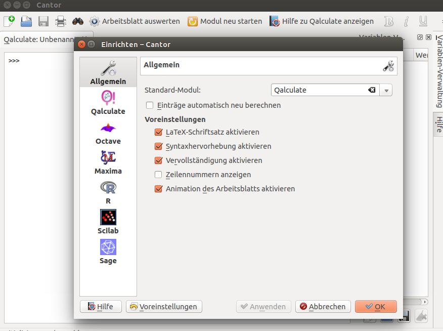 Cantor – KDE Frontend to Mathematical Software | NotizBlog Digital
