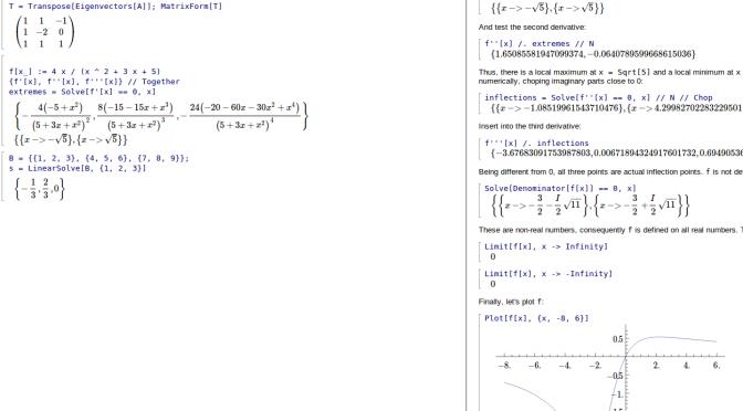 Mathics, das freie CAS (computer algebra systems)