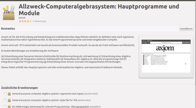 Axiom, ein weiteres Computer Algebra System (CAS) auf Ubuntu