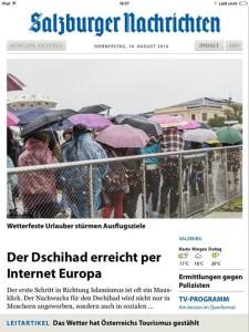 Foto von der FB Seite der Salzburger Nachrichten