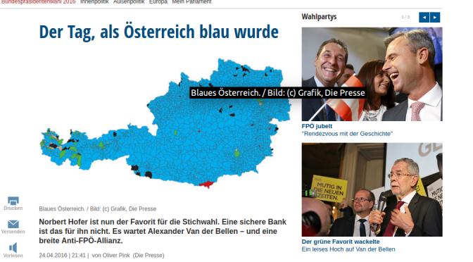 Ist ganz Österreich wirklich blau, oder doch nur farblos?