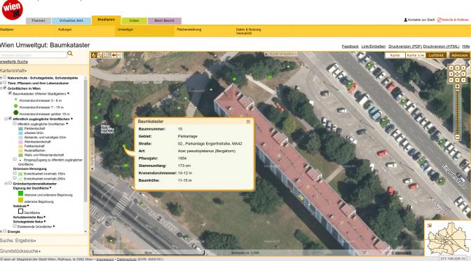Wiener Baumkatastar – Google Maps 3D