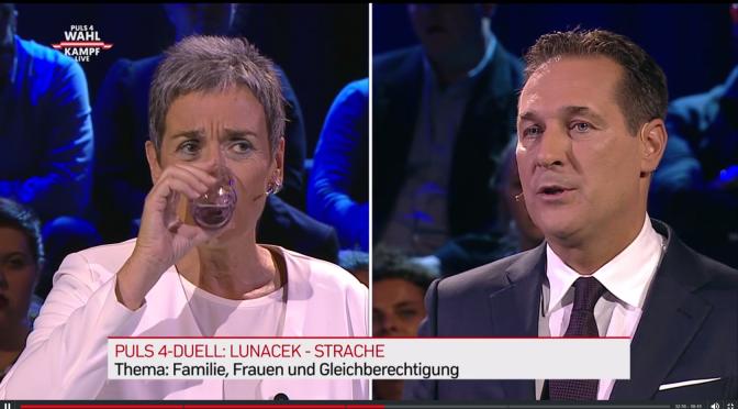 TV-Wahlkampf: Ich sah eine hasszerfressene, hilflos und dumm handelnde Grüne und Strache als eindeutigen Gewinner